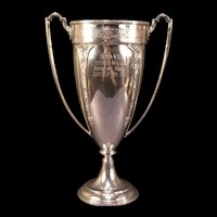 LG 1901 Repousse Relief Chased Silver Angel Figure Award Trophy Presentation Cup