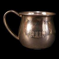 Vintage Lunt STERLING Silver Christening Baby Child Bridal Cup Mug Jamie