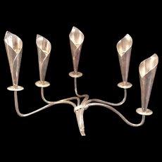 Vintage Hans Jensen Silver 5 Arm Candelabra Candle Stick Holder Denmark Lily