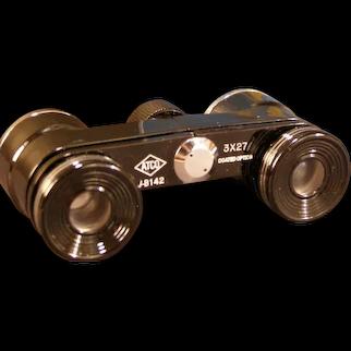 Vintage ATCO Binoculars Field Opera Glasses Magnifier Magnifying w/Case Box 3x27