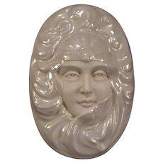 Art Nouveau Powder Woman Portrait Jewelry Trinket Vanity Box Jugendstil Lady Jar