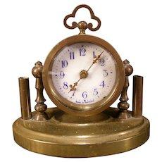 Arts & Crafts German Bronze Pen Stand Rack Holder Desk Paperweight Clock
