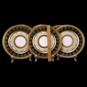 "6 1900 Furstenberg Selb Bavaria Porcelain GOLD ENCRUSTED 11+"" Dinner Cake Plate"