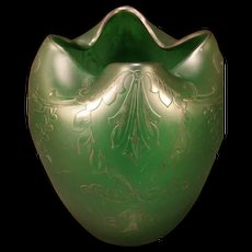 1880's Webb Fritsche Cameo Nouveau Stourbridge Acid Cut Peking Glass Flower Vase