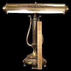 Vintage Student Library Mid Century Modern w~Telescopic~ Arm Lyre Harp Desk Lamp