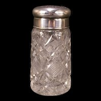 19 c Victorian Cut Glass Sugar Muffineer Cheese Shaker Condiment Castor Bottle