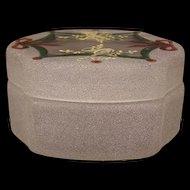 Rare 19 c Moser Bohemian Enamel Stained Glass Dresser Jewelry Trinket Powder Box