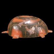 LG 30's Turtle Tortoise Pressed Steel Clockwork Wind Up Metal Toy Kingsbury Pull