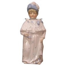 1800's Victorian German Biscuit Porcelain Bisque Nodder Figure Salt Glaze Statue