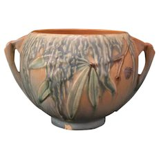 1936 Art Deco Roseville Pottery Moss Jardiniere Planter w/ Original Paper Label