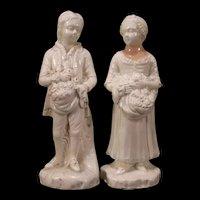 Pr~ 19th c Meissen German KPM Porcelain Statue Sculpture Figure Girl