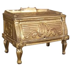 19c Antique Sheraton French Bronze Jewelry Trinket Patch Dresser Vanity Box Desk