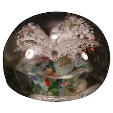 1800's Sandwich New England Spatter Cloud Frit Glass PaperWeight Millefiori 19 c