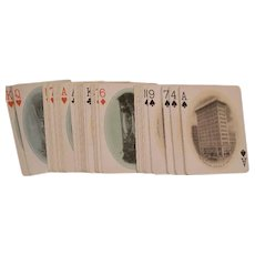1900's Picture Deck U of P Playing Cards Advertising Photo Game RR Station College