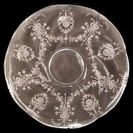 40s Heisey Elegant Glass Orchid Etch Waverly Platter Torte Plate Tray Serving Charger