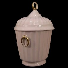 Vintage Boehm Bone China Porcelain Biscuit Cracker Covered Jar Humidor Cookie Box