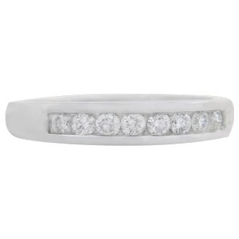 Estate .50ct Genuine Diamond 14K White Gold Wedding Band Ring