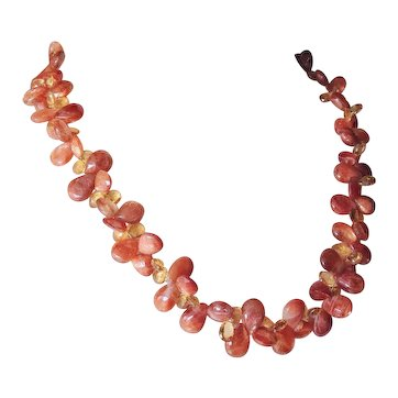 Sunstone and Citrine Briolettes Necklace