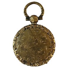 Antique Early Victorian Gilt Mourning Locket Pendant