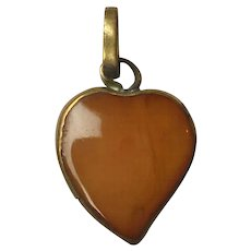 Antique Georgian Carnelian Closed Back Witch's Heart Pendant