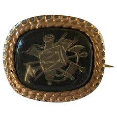 Unusual 18th Century Georgian Miniature Military Trophy of War Memorial Brooch