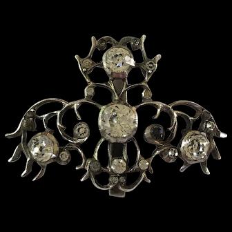 Antique Georgian Large Silver Foiled Back Paste Pendant c 1800