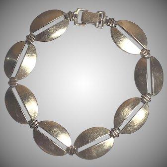 Vintage Symmetalic W. E. Richards Sterling Silver & Gold Filled Bracelet