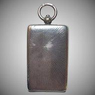 Antique 935 Sterling Silver Sunburst Design Locket