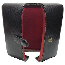 Vintage Shreve, Crump & Low Boston, MA Black Leatherette & Red Interior Jewelry Presentation Box
