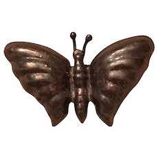 Vintage Los Ballesteros Taxco Mexico Sterling Silver Butterfly Brooch