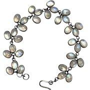 Vintage Sterling Silver Labradorite Bracelet