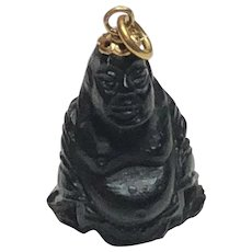 Vintage Corletto 18k Yellow Gold Carved Buddha Pendant or Charm Italy