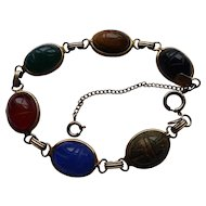 Gold Filled Genuine Stone Karen Lynne Scarab Bracelet