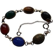 Karen Lynne Gold Filled Genuine Stone Scarab Bracelet