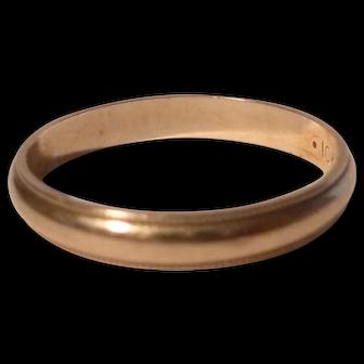 10K Yellow Gold 1940's Wedding Band  Size 7