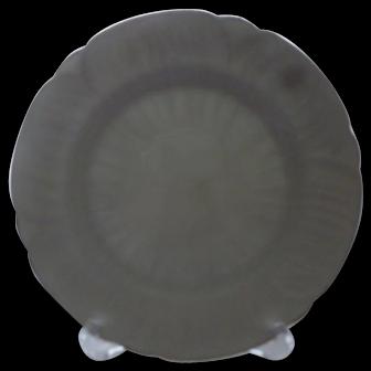"6 Shelley England Dainty White Regency 8"" Salad Plates"