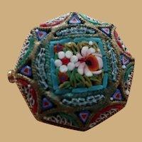 Vintage Genuine  Micro Mosaic Pin Brooch Italy