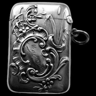 Art Nouveau German Sterling Match Safe Vesta Case
