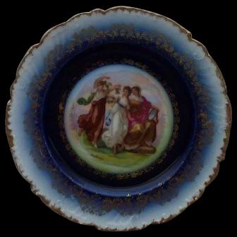Anjelica Kaufmann Flow Blue Victoria Austria 3 Ladies Cabinet Plate