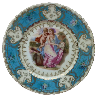 Angelica Kaufmann Victoria Austria Woman with Cupid Cabinet Plate