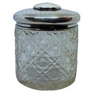 Sterling Crystal Powder Jar with Porcelain Insert 1912