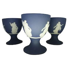 White on Portland WEDGWOOD Dancing Hours Set of 4 Egg Cups