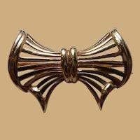 14k Petite Open Bow Pin Brooch