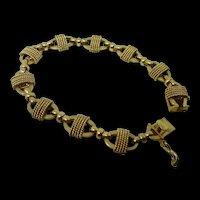 """14K YG Oval Link 1940's Bracelet 18 gr.  6 1/2"""""""
