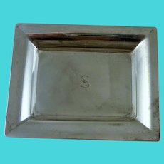 """TIFFANY & CO MAKERS Sterling Rectangle Small Tray 2 5/8"""""""