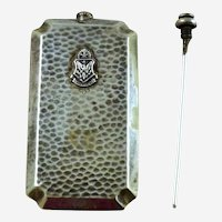 Alpha Phi Delta Silver Plated Monogrammed Perfume Flask with Dauber