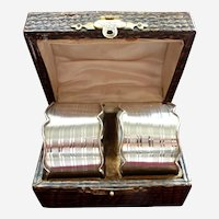 English Sterling Pair Of Napkin Rings In Presentation Case