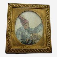"Vintage Miniature Brass Frame 1  5/8"" x 1 1/2"""
