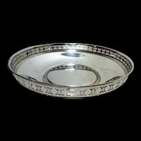 """TIFFANY & CO MAKERS  Reticulated Serving Bowl  9""""  12 ozt"""