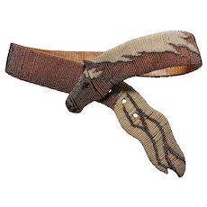 Designer Mary B. Hetz Hand Signed 1984 Beaded Horse Belt